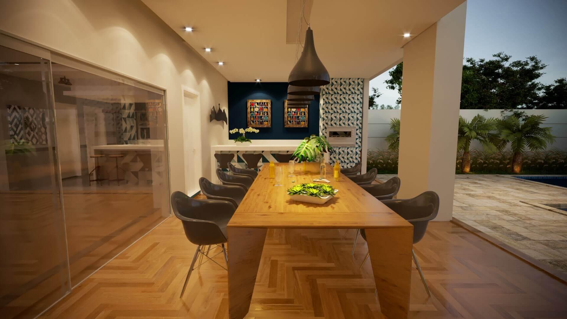 Área de Lazer Casa Contemporânea