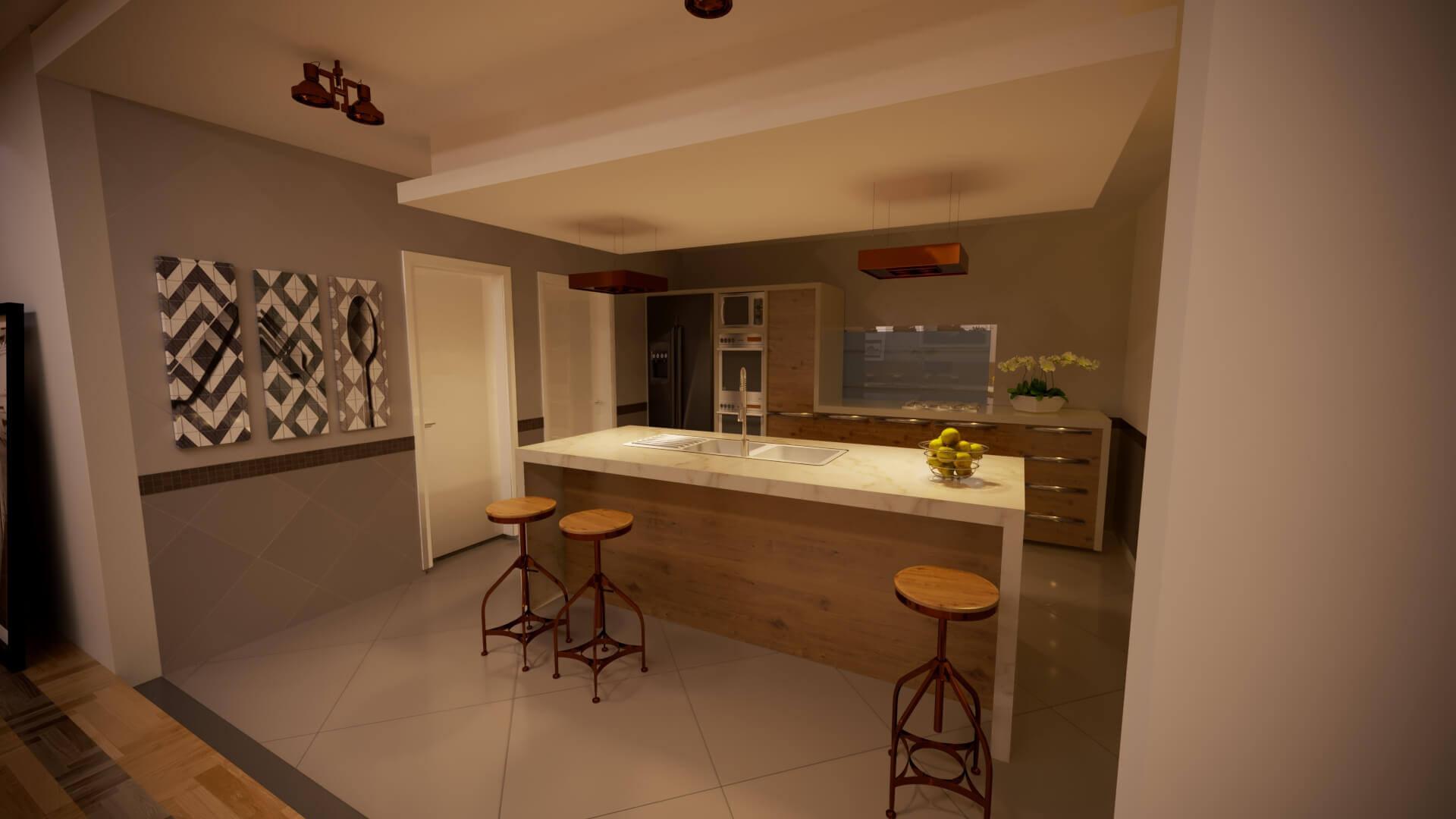 Cozinha Casa Contemporânea