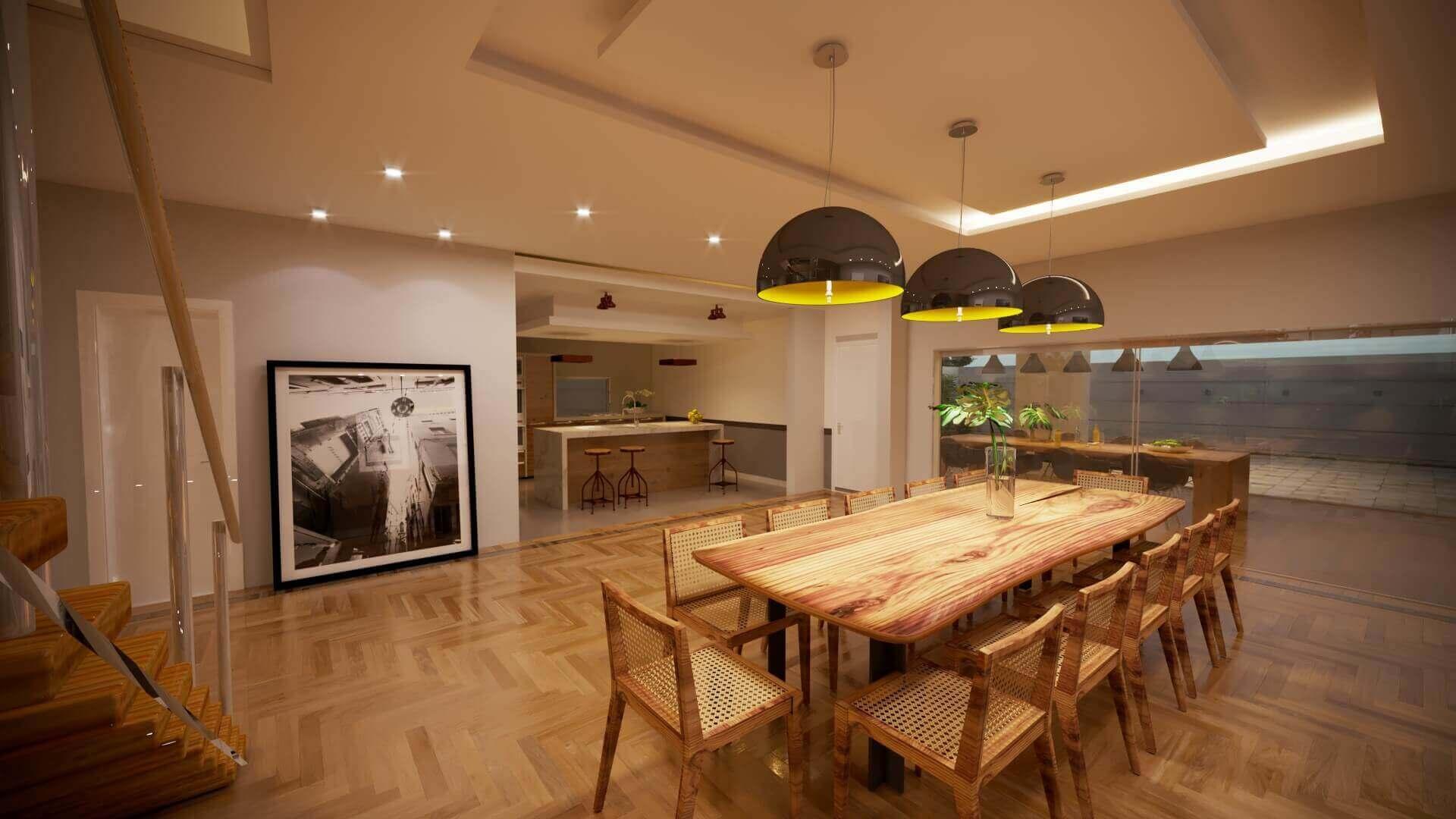 Sala de Jantar Casa Contemporânea