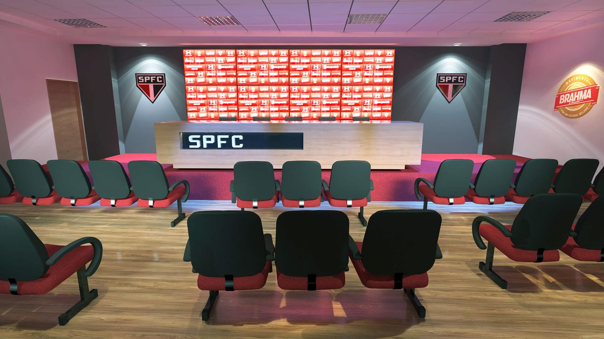 Sala de imprensa São Paulo Futebol Clube no Moumbi AMBEV