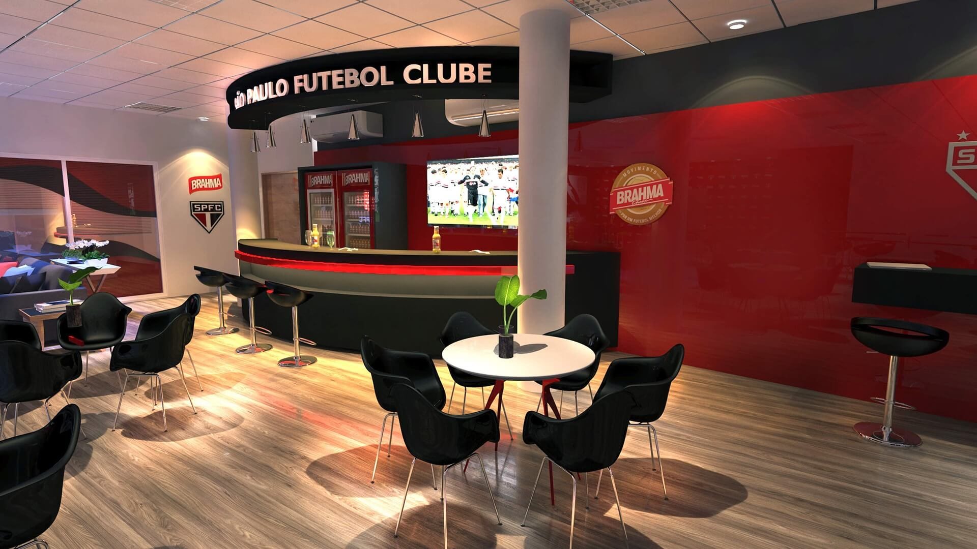Bar do São Paulo Futebol Clube no Moumbi AMBEV