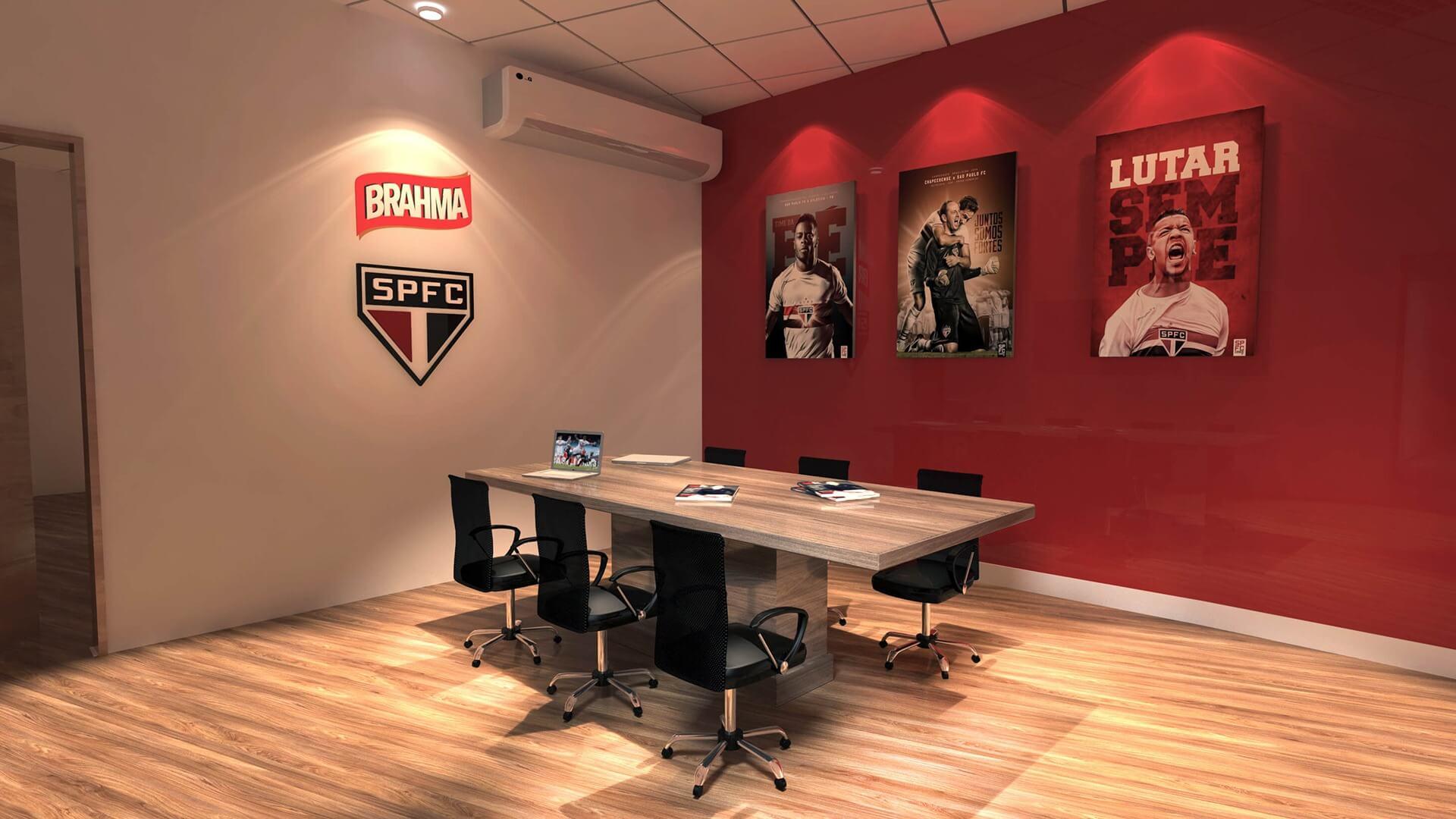 Sala de Reuniões - Sala de Imprensa SPFC