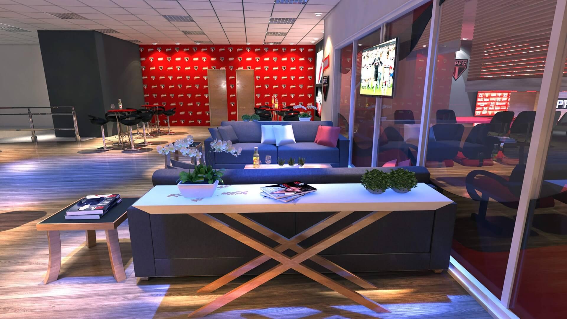 Lounge da Sala de Imprensa SPFC