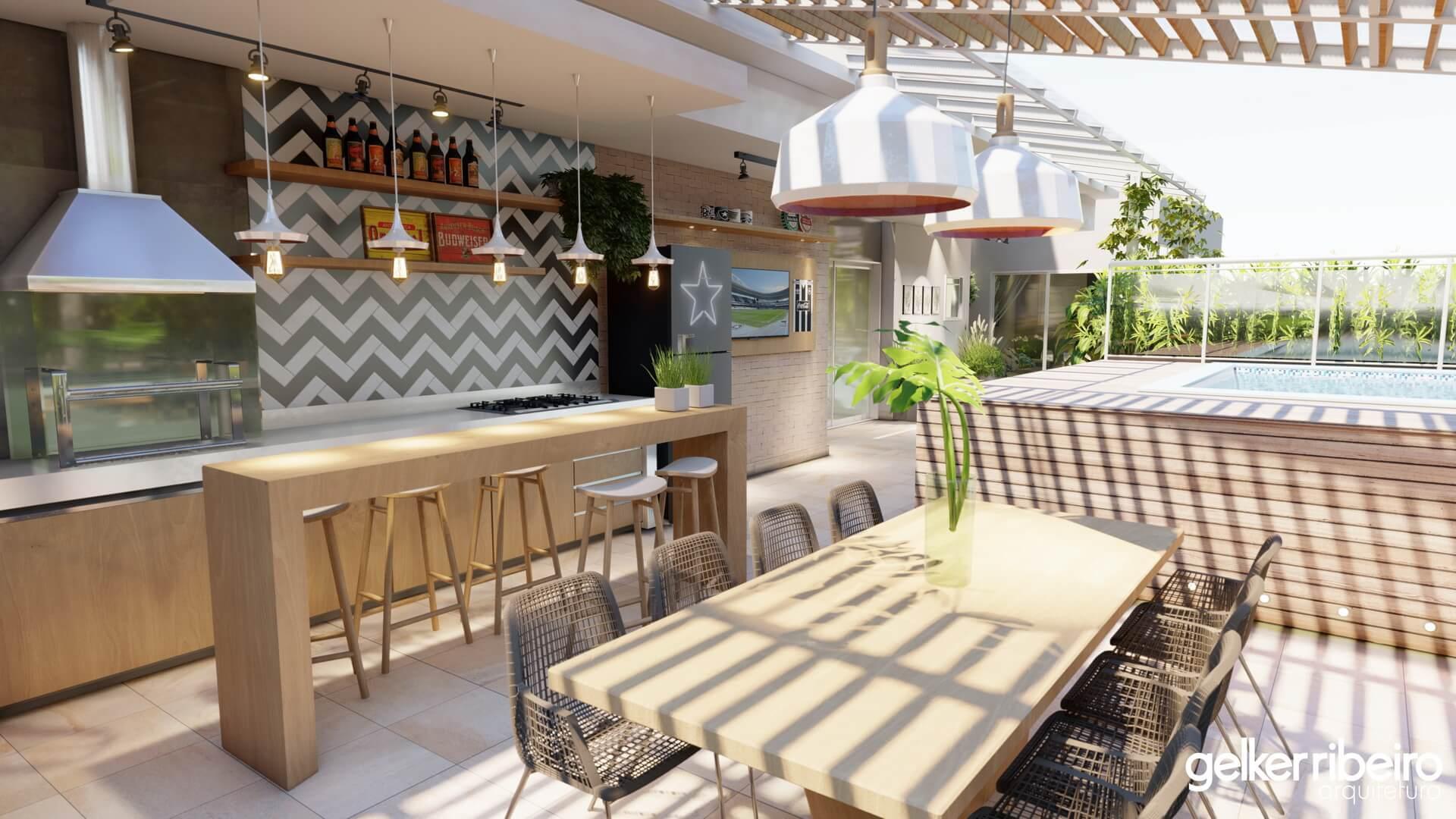 Projeto para um apartamento de COBERTURA - BARRA da TIJUCA.