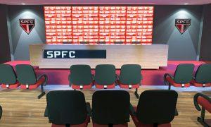 Sala de imprensa São Paulo Futebol Clube no Moumbi AMBEV 1