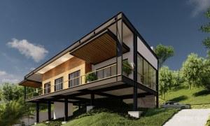 casa moderna estrutura metalica marica