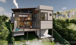 casa moderna estrutura metálica Teresópolis