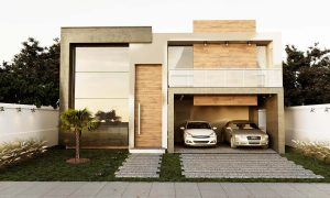 Fachada Projeto casa arquitetura contemporânea