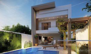 projeto casa contemporânea PEQUENA
