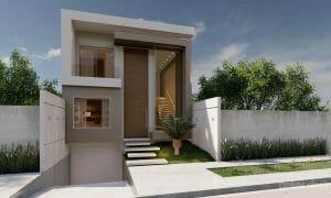 projeto casa contemporânea frente